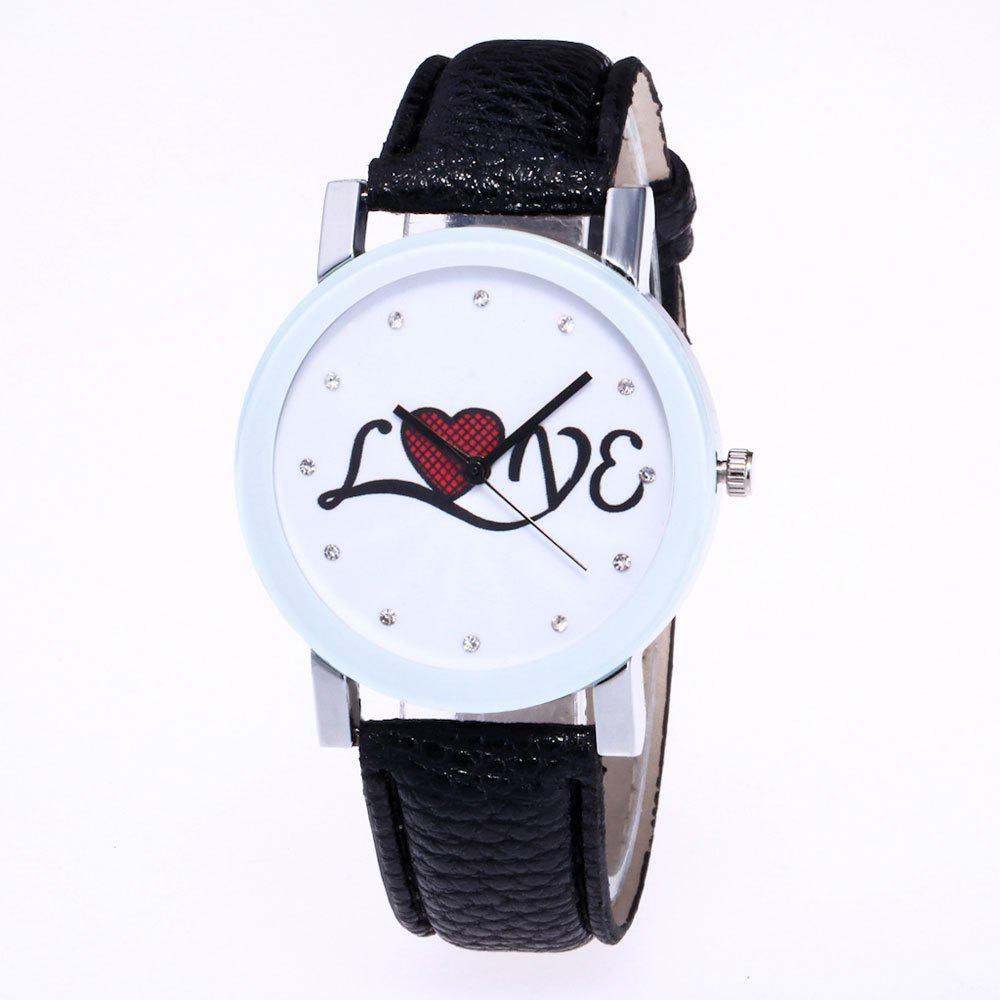 Hot The New Fashion Trend of Lychee Pattern Strap Lady Classic Love Quartz Watch with Gift Box