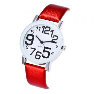 New Fashion Crocodile Pattern Ladies Casual Digital Quartz Watch with Gift Box -