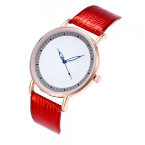 New Fashion Crocodile Pattern Ladies Business Quartz Watch with Gift Box -