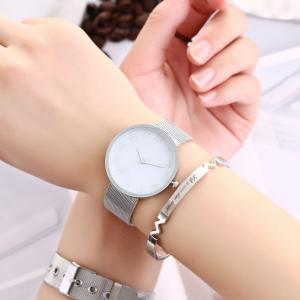 Geneva Fashion Couple Watch Women Men Fashion Stainless Strap Wristwatch -