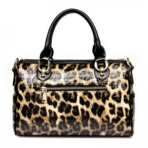 Leopard Two-Piece Fashion European and American Shoulder Messenger Handbag -