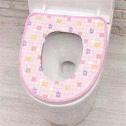 Padded Cloth Toilet Cover Winter Warm Toilet Seat Toilet Toilet Seat Stitching Stitching Toilet Seat -