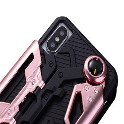 for iPhone X Back Protective Cover Case Shockproof with Kickstand -
