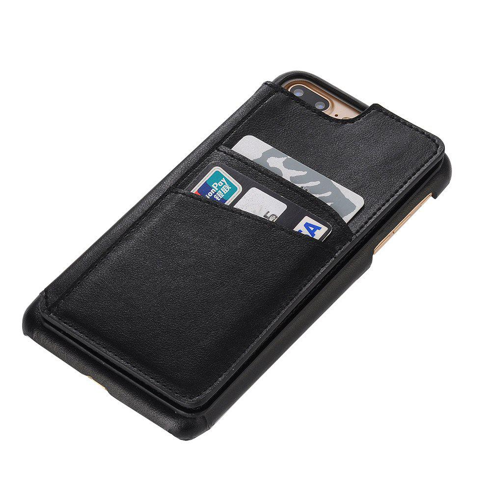 Shops for iPhone 7 Plus Male Style Leather Grain Phone Case with Stand Card Holder
