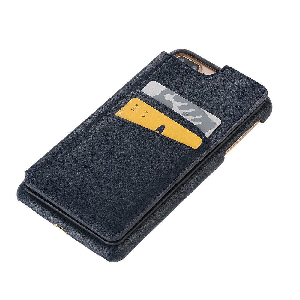 Discount for iPhone 7 Plus Male Style Leather Grain Phone Case with Stand Card Holder