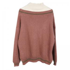 New Winter Loose Bottom Cover Head Fake Two Mink Hair Sweater Knit Blouse -