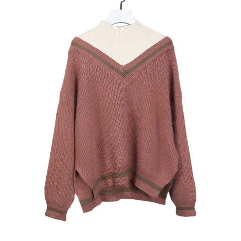 Shop New Winter Loose Bottom Cover Head Fake Two Mink Hair Sweater Knit Blouse