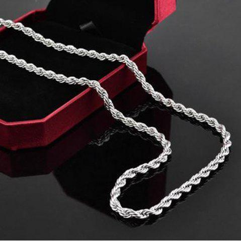 Discount Mens 925 Sterling Silver Necklace Twisted Rope Chain 4mm