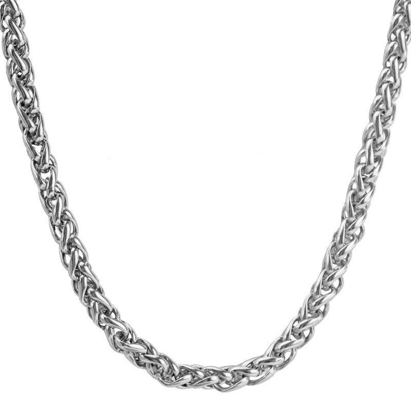 Fashion Round Rope Braid Chain Necklace Mens
