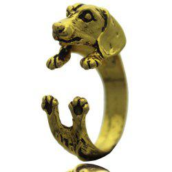 Pug animal ring female models jewelry -
