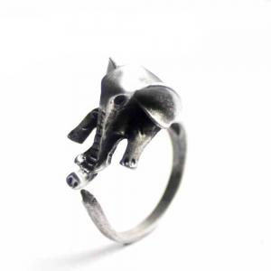 Cute elephant animal ring female models jewelry -