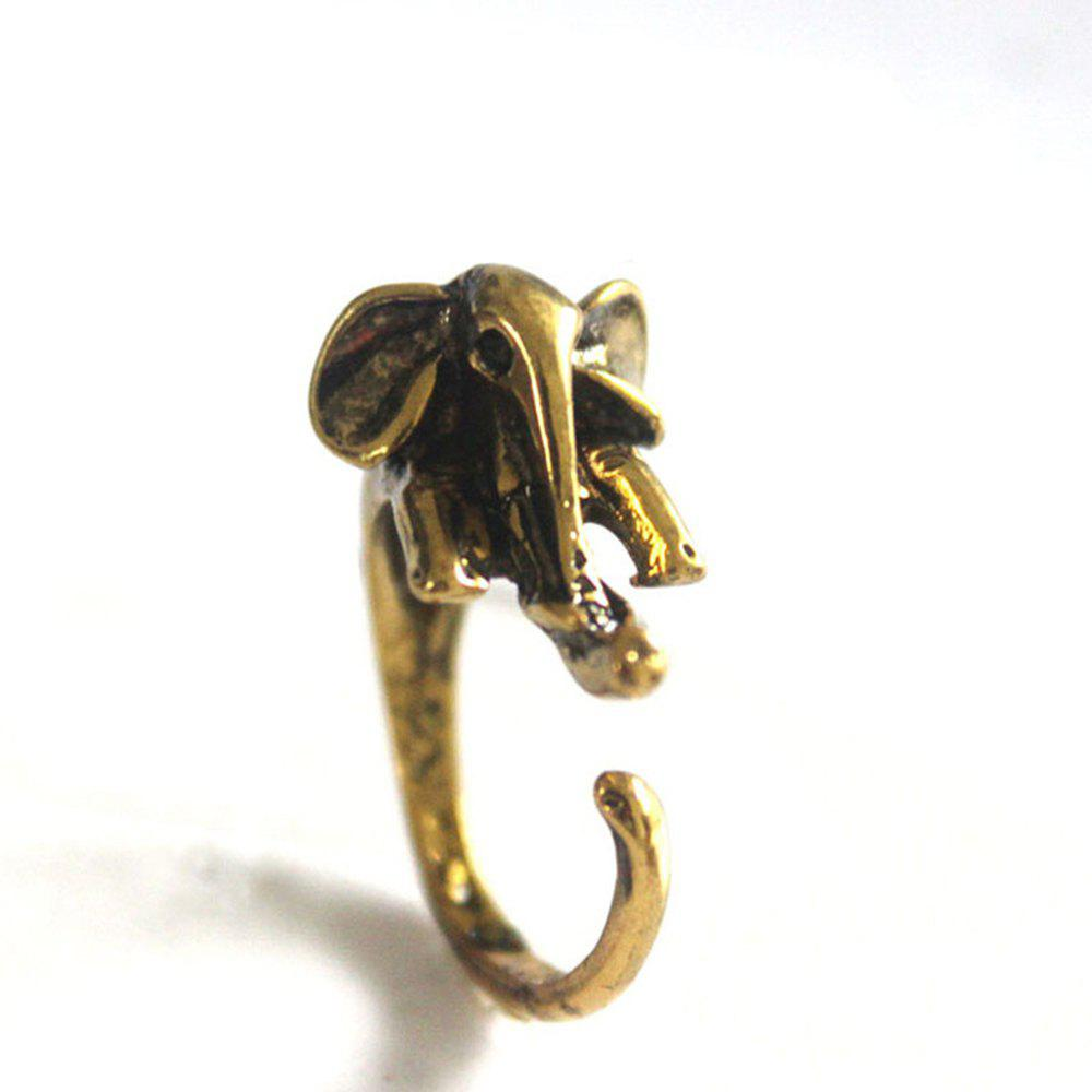 Best Cute elephant animal ring female models jewelry