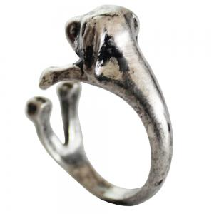 dachshund dog animal ring female models jewelry -