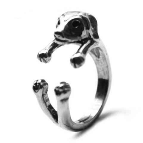 Fancy dachshund dog animal ring female models jewelry