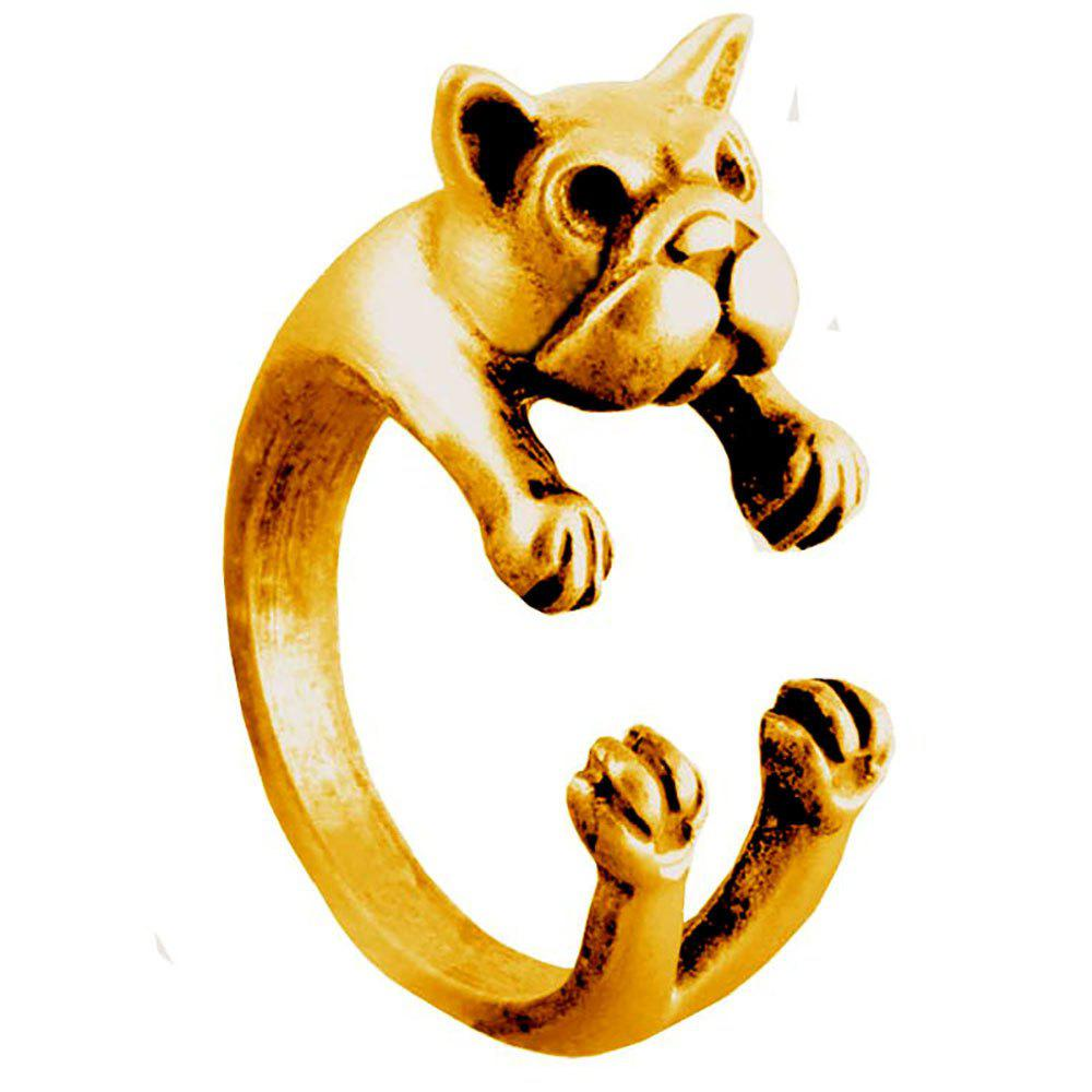Fashion French bulldog dog animal ring womens open finger jewelry