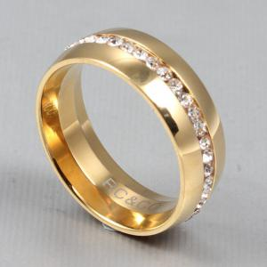 fashion style stainless steel Diamond mens ring finger jewelry -