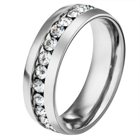 Trendy fashion style stainless steel Diamond mens ring finger jewelry