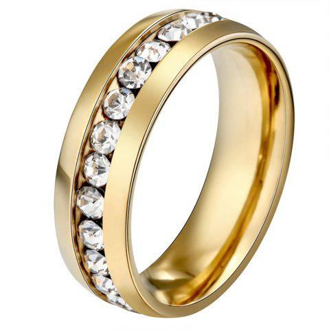 Online fashion style stainless steel Diamond mens ring finger jewelry