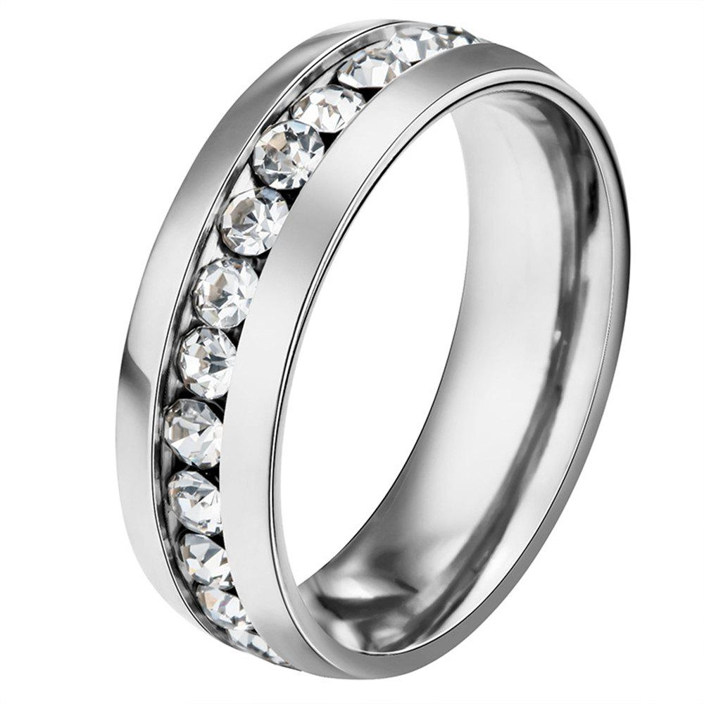 Shop fashion style stainless steel Diamond mens ring finger jewelry