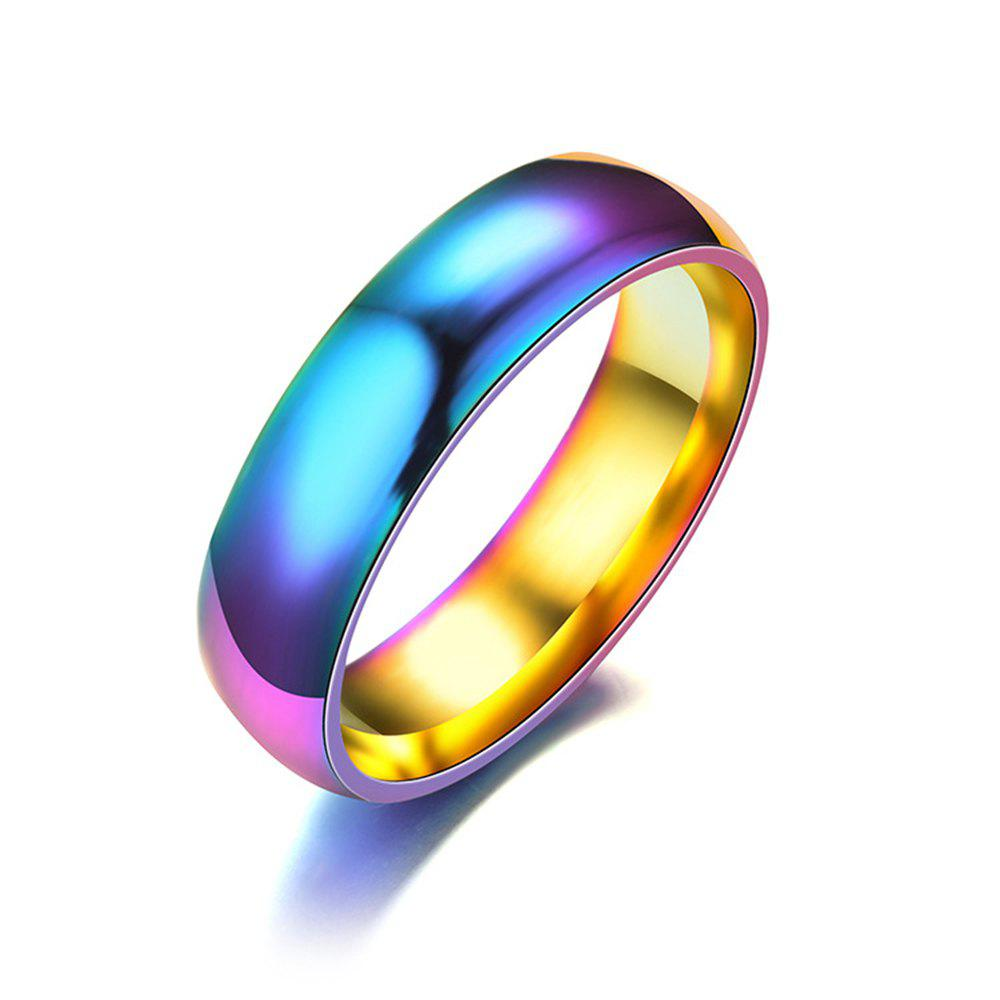 Outfit Stainless steel colorful ring for mans jewelry