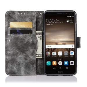 For Huawei Y7 2017 Retro Tattoo Cover Strap Phone to Protect the Leather Case -