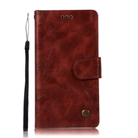 Cheap For Huawei Y7 2017 Retro Tattoo Cover Strap Phone to Protect the Leather Case
