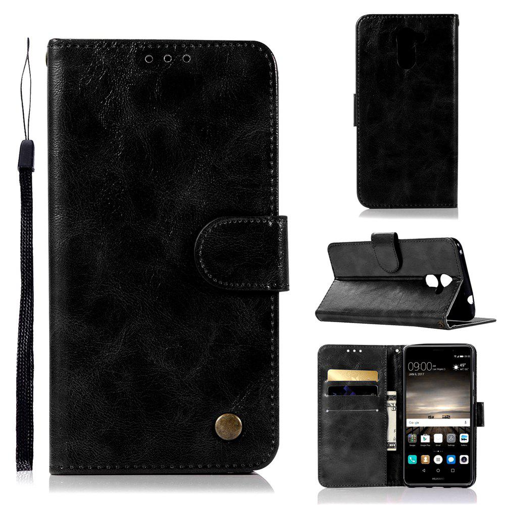 Best For Huawei Y7 2017 Retro Tattoo Cover Strap Phone to Protect the Leather Case