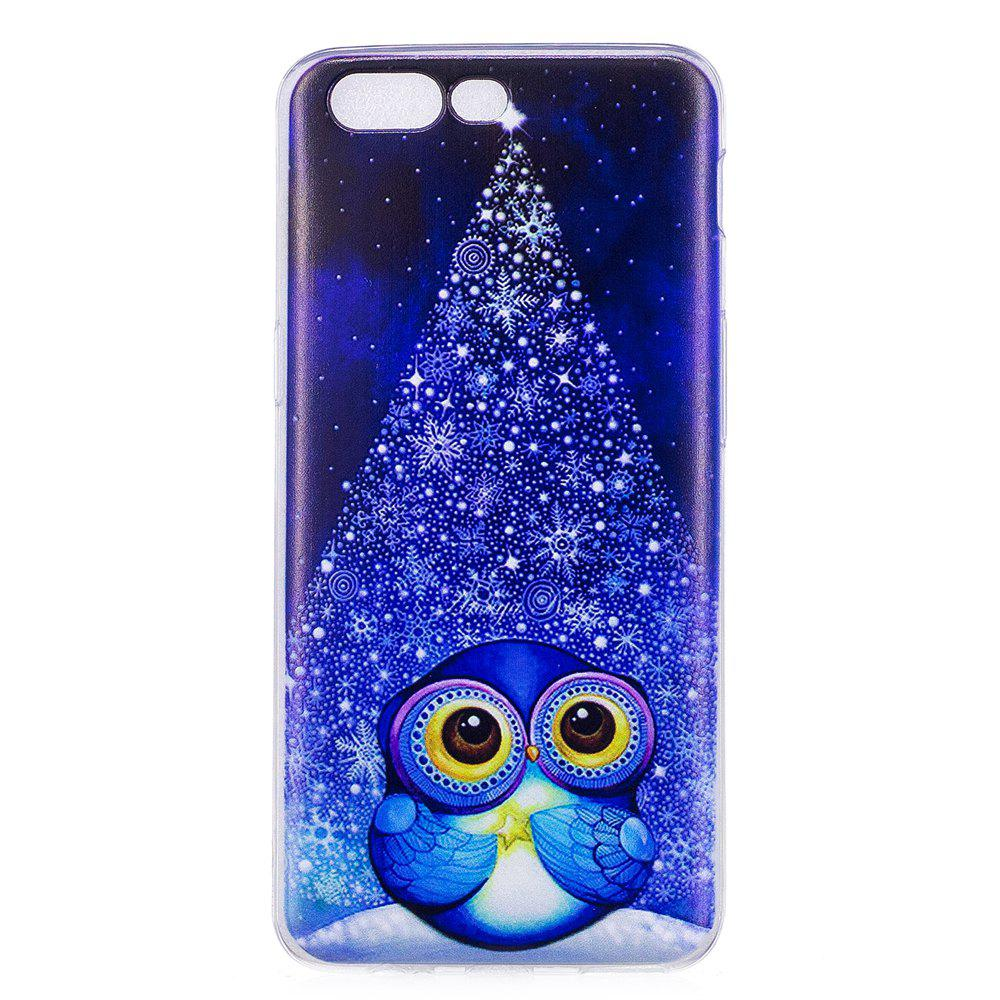 Outfit For One Plus 5 Cell Phone Shell Soft TPU Cute Owl Christmas Tree Transparent Shell
