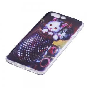 For One plus 5 Mobile Phone Shell Soft TPU Couple Cat Protective Shell -