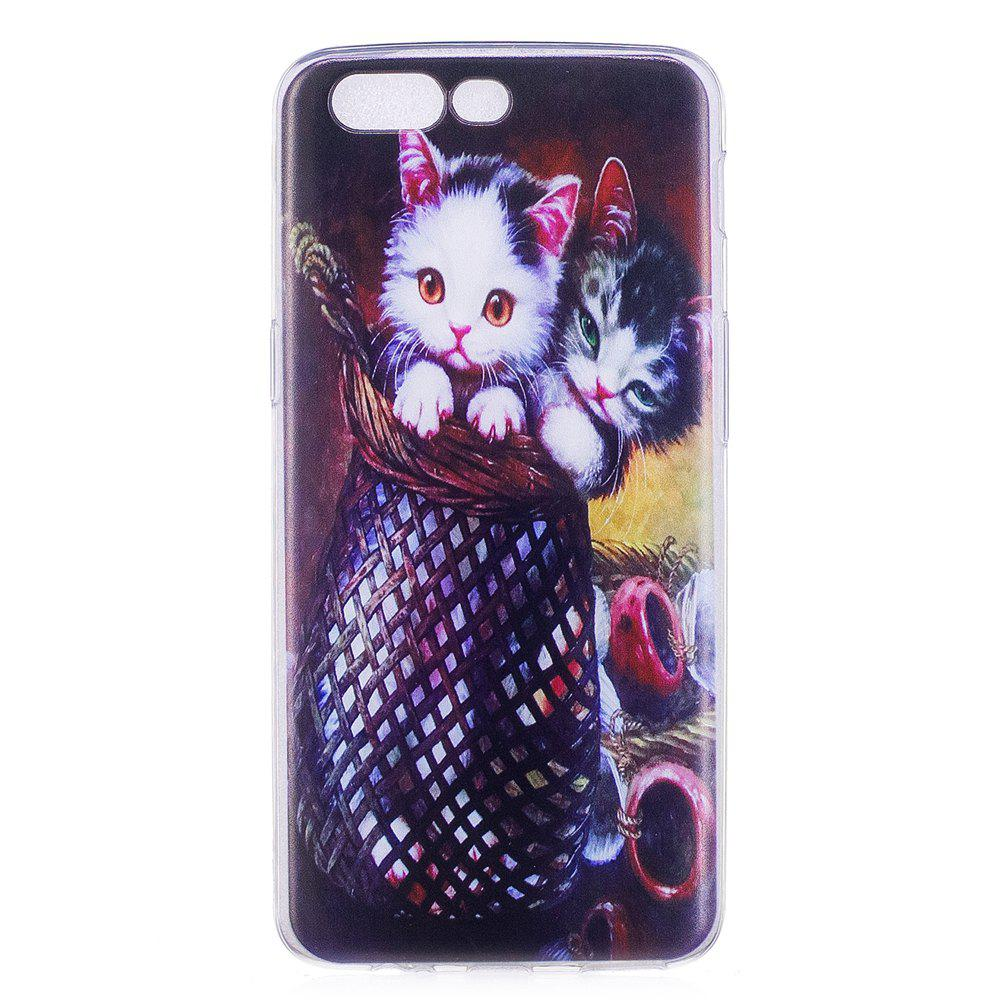 Pour un plus 5 téléphone portable Shell Soft TPU Couple Cat Shell de protection