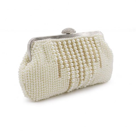 Fancy 2017 New Freeshipping Solid Bag Mini Hasp Day Clutches Women Handbag Hot Selling Pearl with Diamond Cluth Evening bag
