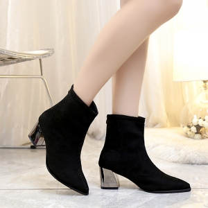 Fashion Warmth Sexy Rough High Heel Boots -