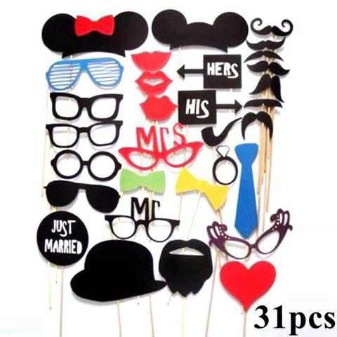 Sale DIY Mask Photo Booth Props Set Funny Mustache Beards Red Lips Costume Fun Pictures Wedding Birthday Party Christmas
