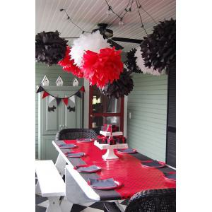 Black Red 20pcs Baby Shower Decorations White Black Red Baby