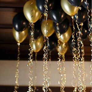 Gold Ballons Hovebeaty 12 Inches Thicken Latex Metallic Balloons 100 Pack for Wedding Party Baby Shower Christmas Birthday Carnival Party Decoration Supplies -