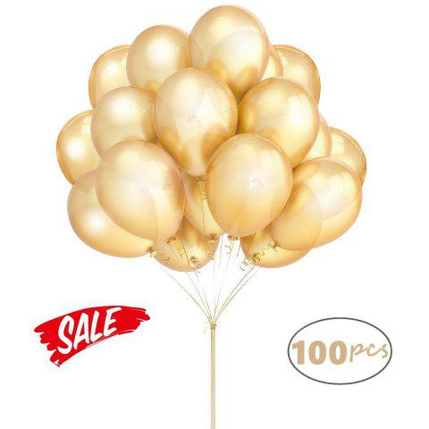 Discount Gold Ballons Hovebeaty 12 Inches Thicken Latex Metallic Balloons 100 Pack for Wedding Party Baby Shower Christmas Birthday Carnival Party Decoration Supplies