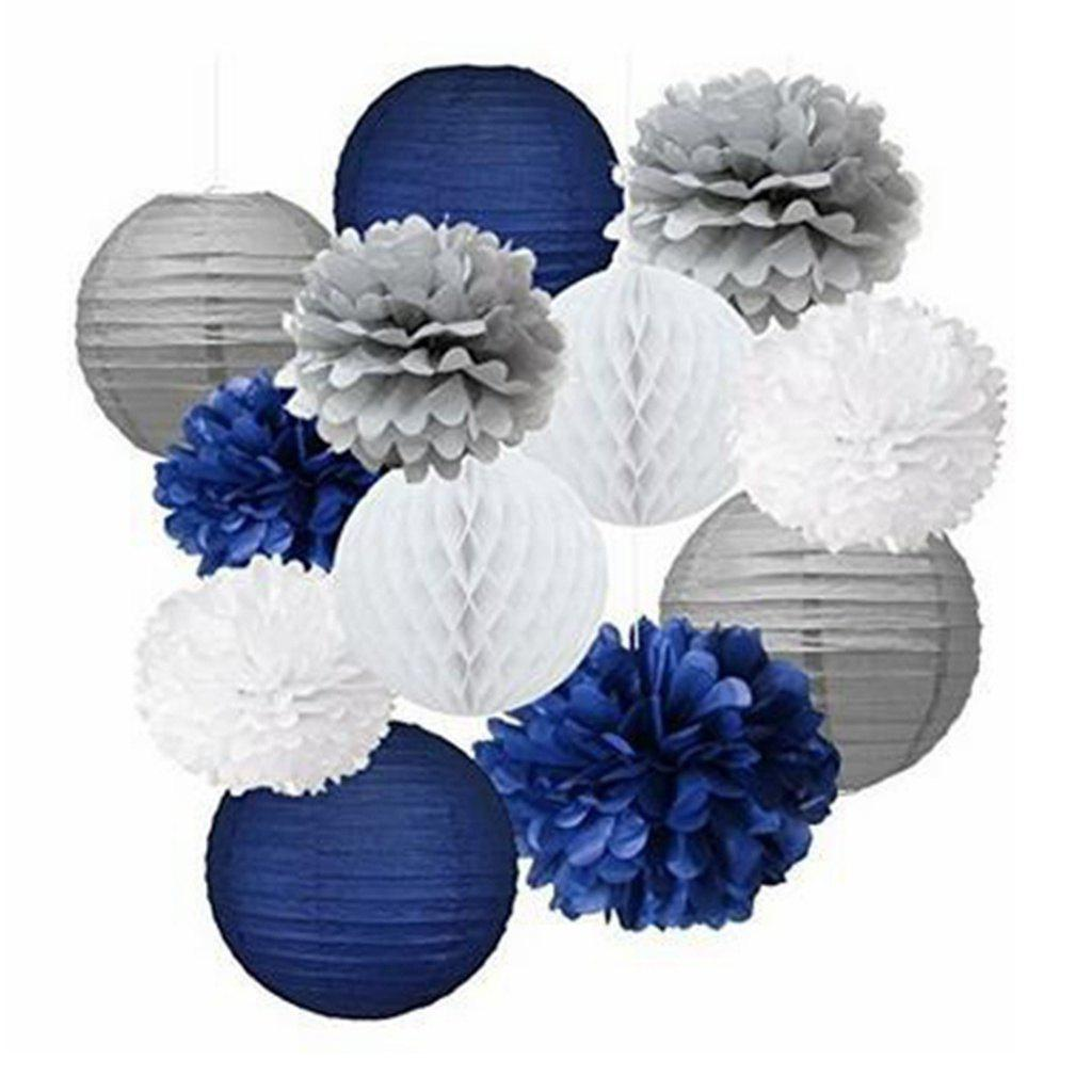 As The Picture 12pcs 12pcs Mixed Navy Blue Gray White Party Tissue ...