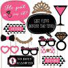 20pcs DIY Masque Filles Night Out Bachelorette Parti Photo Booth Props Kit -