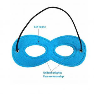 Party Dress Up Superhero Mask Cosplay Mask with Elastic Ribbon for Kids(Pack of 11 Colors) -