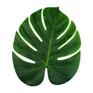 9pcs Tropical Palm Leaves 13-Inch Simulation Leaf for Hawaiian Luau Party Jungle Beach Theme Party Decorations -