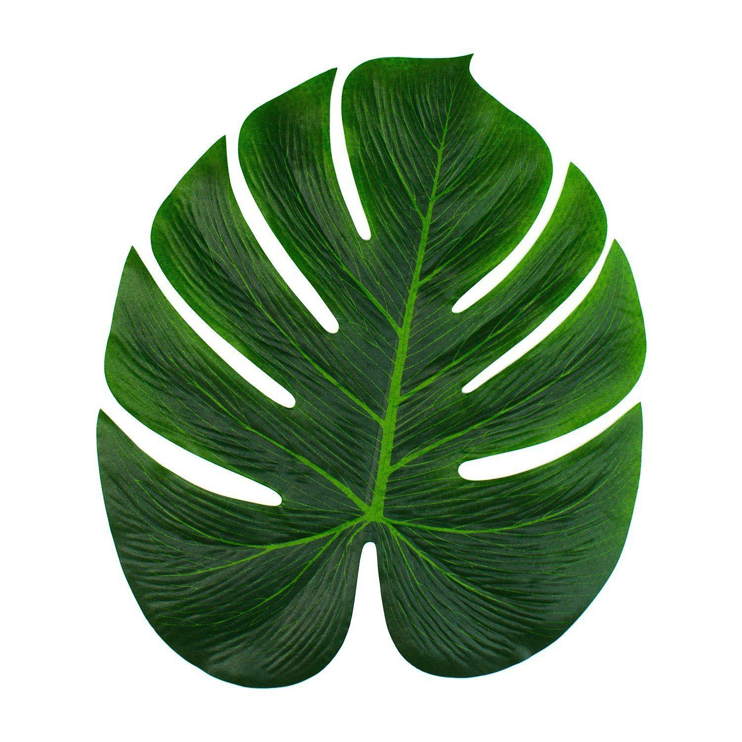 Sale 9pcs Tropical Palm Leaves 13-Inch Simulation Leaf for Hawaiian Luau Party Jungle Beach Theme Party Decorations