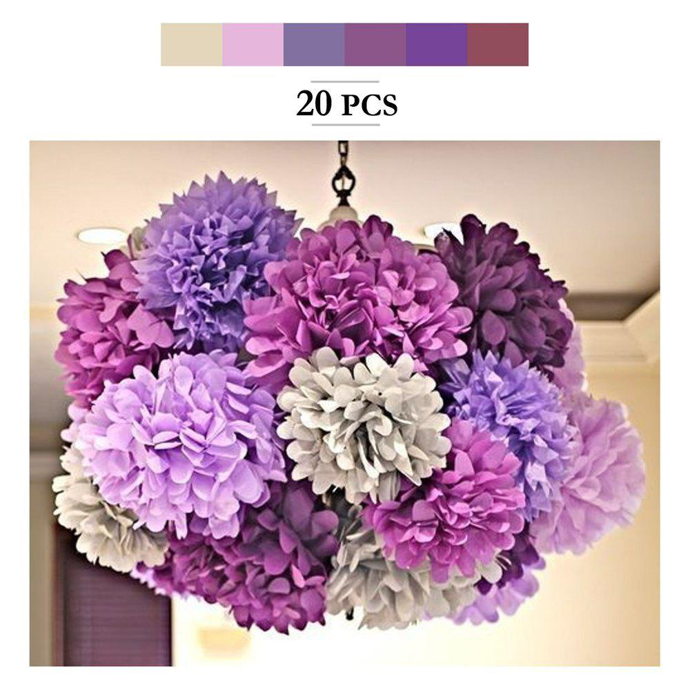 2018 20pcs tissue paper pom poms paper flowers garland for outfits 20pcs tissue paper pom poms paper flowers garland for engagement wedding party xmas decoration mightylinksfo