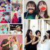 31PCS/Set DIY Wedding Birthday Party Cosplay Mask Photo Booth Props On A Stick -