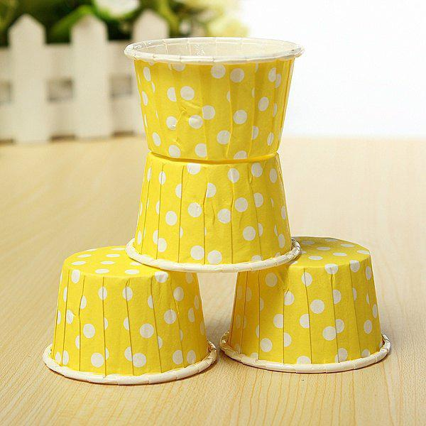 20Pcs Colorfu Paper Cake Cup Liners Baking Cupcake Cases Muffin Cake Colorful Wave Point 249469404