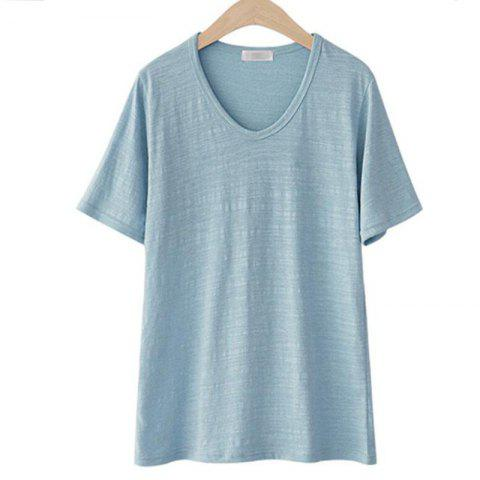 Cheap Plus Size Leisure Cotton Short Sleeve T - Shirt