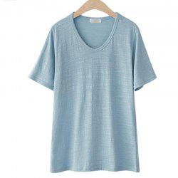 Plus Size Leisure Cotton Short Sleeve T - Shirt -