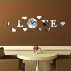 Acrylic Wall Clock with Diy Removable Mirror Stickers Home Art Decoration -