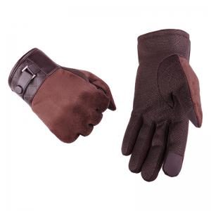 Autumn and Winter Touch Screen Glove Male Cashmere with Velvet and Warm Car Ride Without Down Suede -