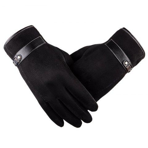 Shops Autumn and Winter Touch Screen Glove Male Cashmere with Velvet and Warm Car Ride Without Down Suede