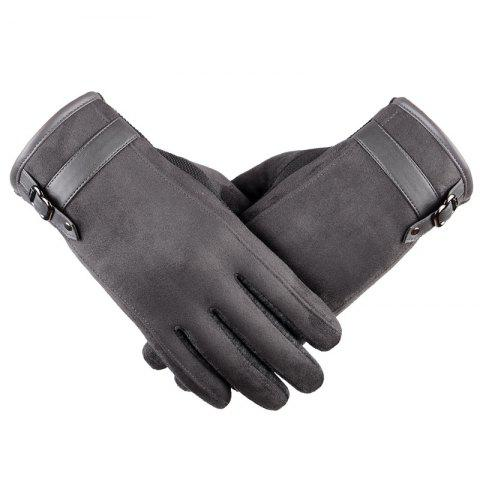 Buy Autumn and Winter Touch Screen Glove Male Cashmere with Velvet and Warm Car Ride Without Down Suede